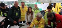 La Junta realiza un simulacro en las inmediaciones de Medina Azahara en Córdoba para poner a prueba los mecanismos de respuesta ante incendios forestales