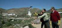 La Junta libera un águila culebrera en el valle de Huebro (Níjar) tras su rehabilitación en el CREA