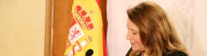 Carmen Crespo durante el anuncio de la iniciativa 'Andalucía en Marcha'