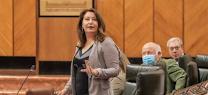 Carmen Crespo durante una sesión en el Parlamento de Andalucía