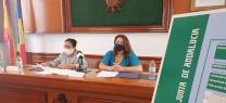 Carmen Crespo durante la sesión de presentación del proyecto EDAR de Mojacar