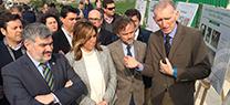 Susana Díaz inaugura el encauzamiento del arroyo Argamasilla que protegerá el núcleo urbano de Écija ante futuras riadas