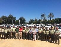 José Fiscal, ha presentado hoy la renovación parcial de la flota de vehículos para los agentes de medio ambiente