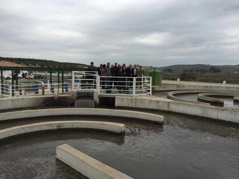 El consejero ha inaugurado la nueva estación de depuración de aguas residuales de Castro del Río-Espejo