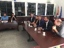 Fiscal se reúne con los alcaldes de los municipios afectados por el incendio de Moguer