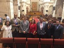 Carmen Crespo intervino en el pleno del Parlamento andaluz