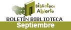 Boletín de novedades de la Biblioteca.