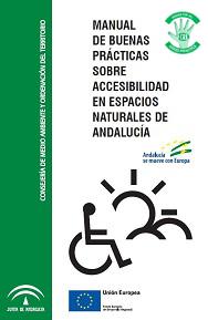"""Portada del """"Manual de buenas prácticas sobre accesibilidad en espacios naturales de Andalucía"""""""
