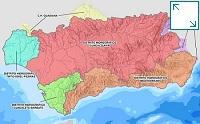 Ámbito territorial de las demarcaciones hidrográficas de las cuencas hidrográficas situadas en Andalucía
