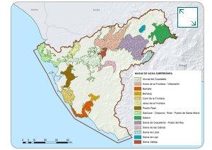 Masas de agua subterráneas de la Demarcación Hidrográfica del Guadalete y Barbate