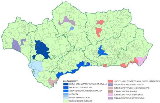 Mapa de zonificación de la calidad del aire