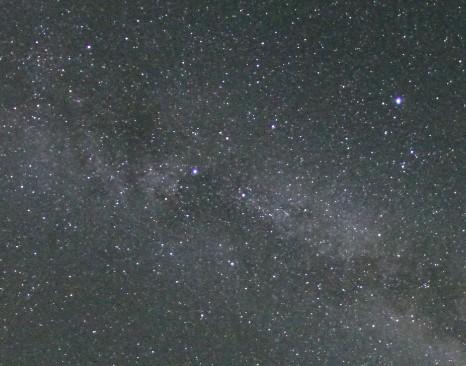 Cielo cubierto de estrellas