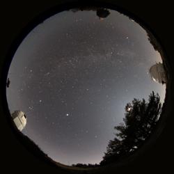 Cielo nocturno fotografiado desde Calar Alto