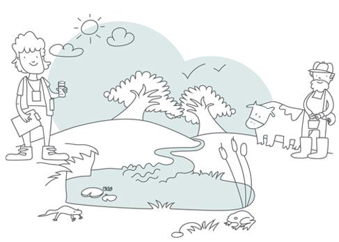 Ilustración sobre la custodia del territorio