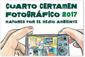 Banner del Cuarto certamen fotográfico Mayores por el Medio Ambiente, 2017