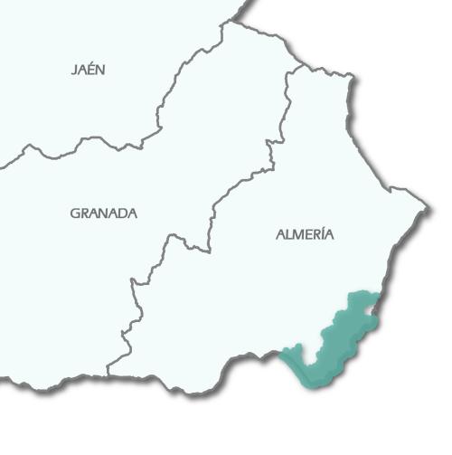 Mapa de localización del Geoparque Cabo de Gata-Níjar