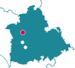 Mapa de localización del Parque Periurbano El Gergal (Sevilla)