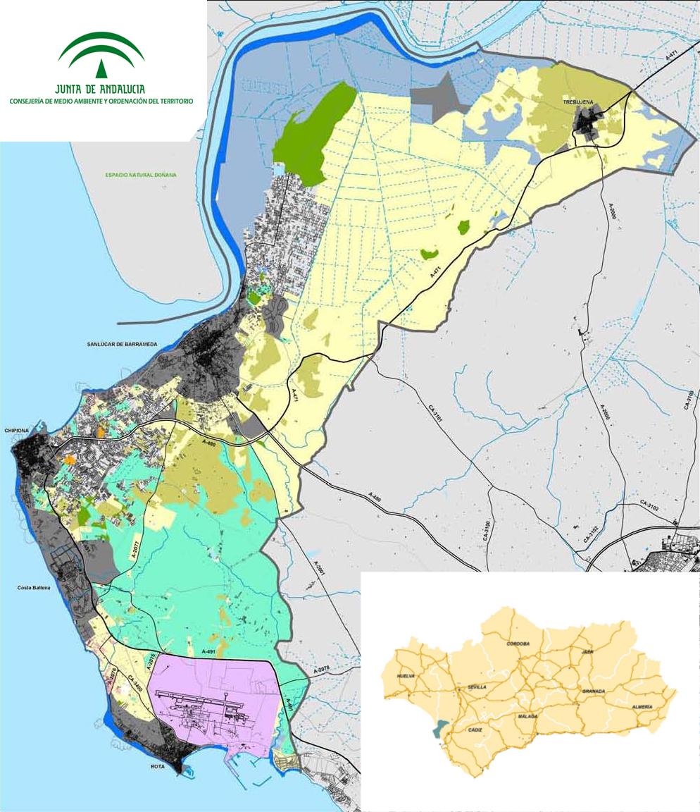 Sanlucar De Barrameda Mapa.Plan De Ordenacion Del Territorio De La Costa Noroeste De