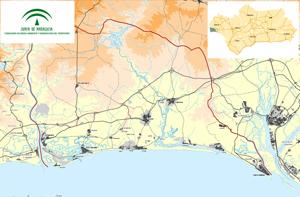 Imagen del mapa del Plan de Ordenación del Territorio del Litoral Occidental de Huelva