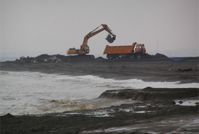 Breakwater construction. Source