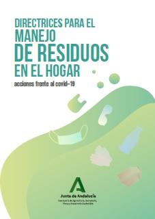 Folleto informativo sobre manejo de residuos en hogares y COVID-19