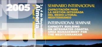Fragmento de la presentación del folleto del Seminario Internacional sobre Capacitación para la Gestión Integrada del Medio Litoral Mediterráneo