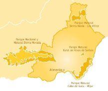 Mapa de la provincia de Almería