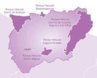 Mapa de la provincia de Jaén