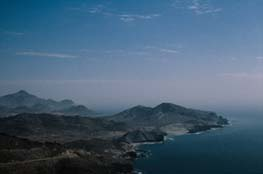 El paisaje volcánico de Cabo de Gata está salpicado de inumerables formas cónicas que se corresponden con volcanes hoy fósiles