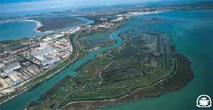 Vista aérea de Bahía de Cádiz