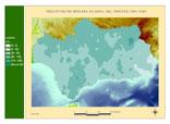 Precipitación del periodo 1961-1990.Abril