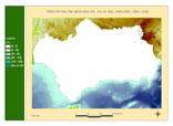 Precipitación del periodo 1961-1990.Julio