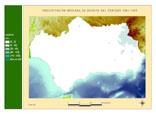 Precipitación del periodo 1961-1990.Agosto