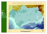 Precipitación del periodo 1961-1990.Octubre