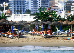 Playa de la Costa del Sol.