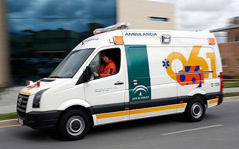 Ambulancia de los servicios sanitarios de EPES.