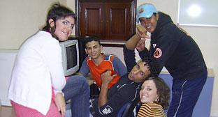 Un grupo de jóvenes participantes en el programa.