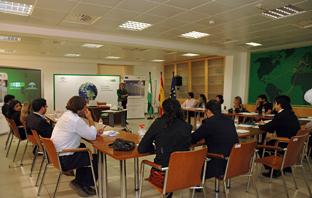 Desarrollo de una de las sesiones formativas.