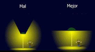 Recomendaciones para un adecuado flujo luminoso.