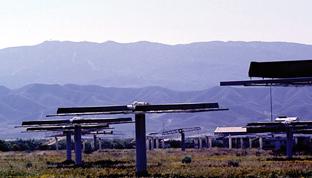 Plataformas de energía solar.