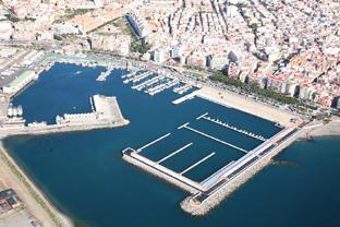 Imagen aérea del puerto de Adra.