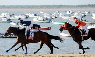 Carreras de caballos en Sanlúcar.