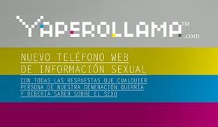 Cartel informativo del teléfono web.