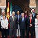 El nuevo presidente, José Antonio Griñán, junto a sus consejeros.