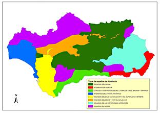 Tipos de regadíos en Andalucía.