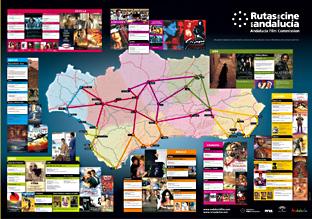 Mapa de películas rodadas en Andalucía.