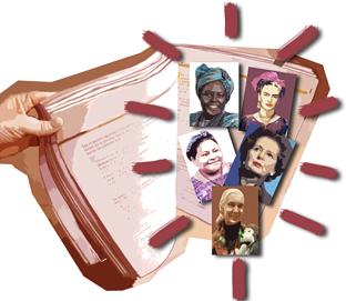 La presencia de la mujer en los contenidos que se imparten en los centros educativos es minoritaria.