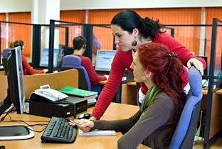 El personal del servicio dispone de información de los usuarios gracias a una completa base de datos.