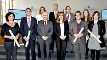 Foto de familia de los XXVIII Premios Andalucía de Periodismo