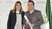 Agustín Muñoz, galardonado en la modalidad de Fotografía por 'Futuro'